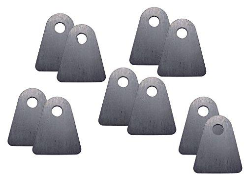 Rusty's Off-Road Custom Tab - Flat Bottom, 1/2-inch Hole - 10-Pack