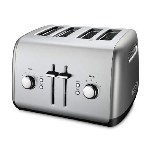 KitchenAid KMT4115CU 4-Slice Toaster with Manual High-Lift Lever, Contour Silver image