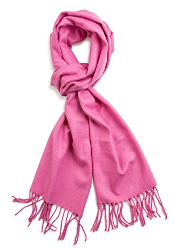 Veronz Super Soft Luxurious Classic Cashmere Feel Winter Scarf (Pink)