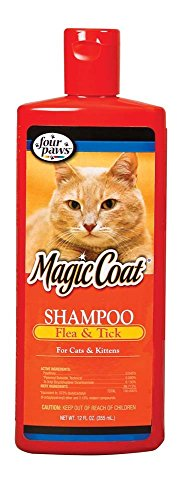 Four Paws Magic Coat Flea & Tick Shampoo Cat Kit 12oz Gentle On Kitten