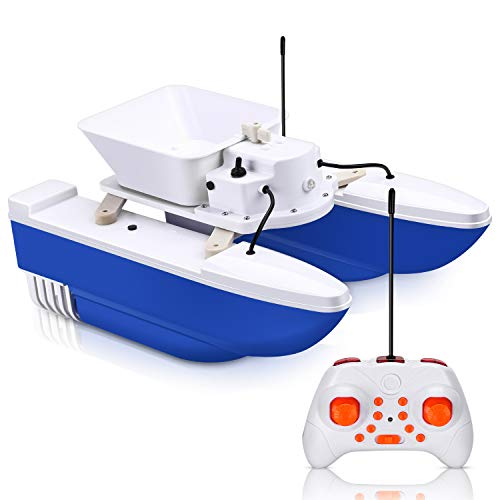 Eyoyo Electric Fish Bait Boat Remote Control Wireless Fish Finder for Adults and Kids Dual Motors 200m 1.2kg Tank