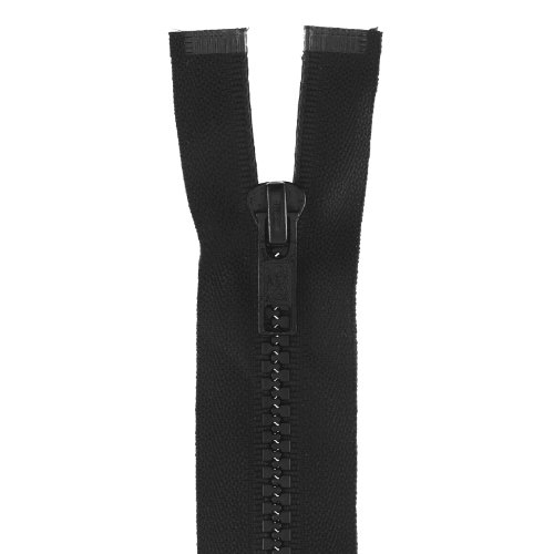 Clark Molded Separating Zipper (Molded Parka Dual-separating 26in Black)