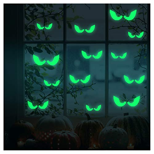 Luminous Sticker, Proboths Creative Removable Luminous Fluorescent Sticker Glow in Dark Decal for Halloween Home Wall Window Decoration Peeping Eyes -