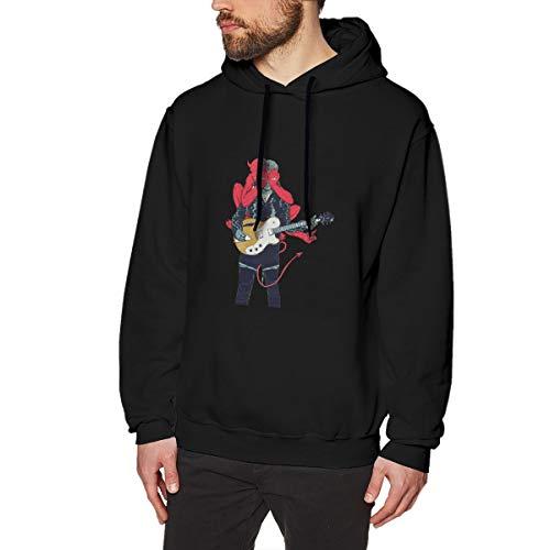 MYaige Queens of The Stone Age Men's Fashion Long Sleeve Fleece Sweatshirt Pullover Black XXL (Queens Of The Stone Age Xmas Jumper)
