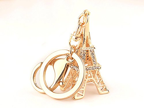 The EiffelTower Pendant Jewel Chain Accesories Crystal Purse Bag Key Ring Car Bling Ring Key Chain Gift For (Prom Themes Ideas)