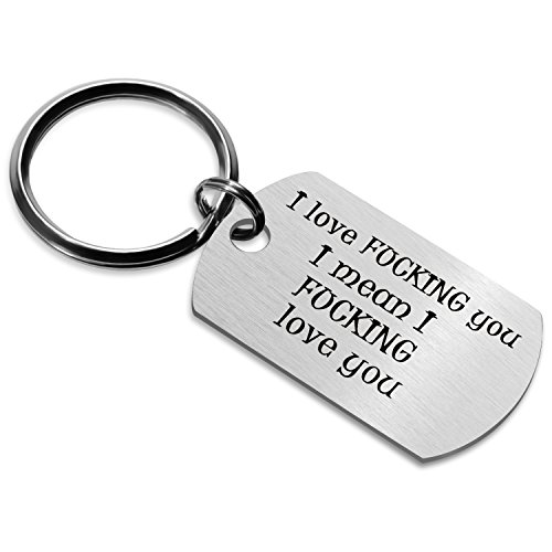 (Personalized Naughty Words Keychain Dog Tag Gift for Boyfriend Valentine's Day (Ⅲ))