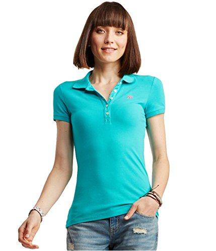 Aeropostale Womens A87 Polo Shirt Green S - ()
