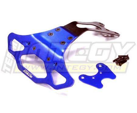 Integy RC Model Hop-ups T7936BLUE Type II HD Rear Bumper for Traxxas 1/10 Electric Slash - Integy Type Aluminum