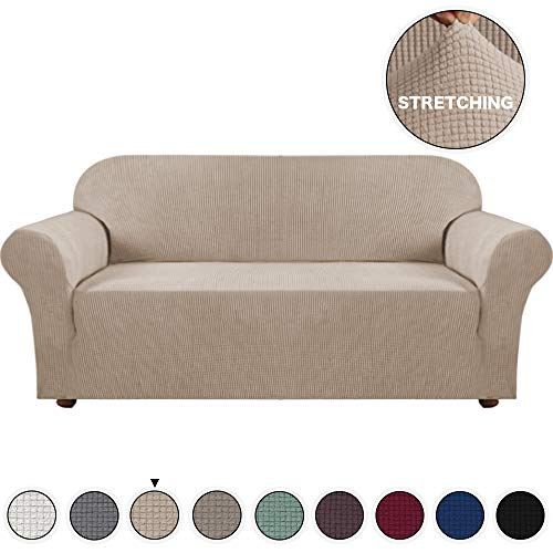 Turquoize Form Fit Slipcover Stretch Stylish Furniture Cover for Living Room Sofa Sofa Cover Slip Resistant Stylish Furniture Protector for 3 Cushions Couch Cover (Sofa, ()