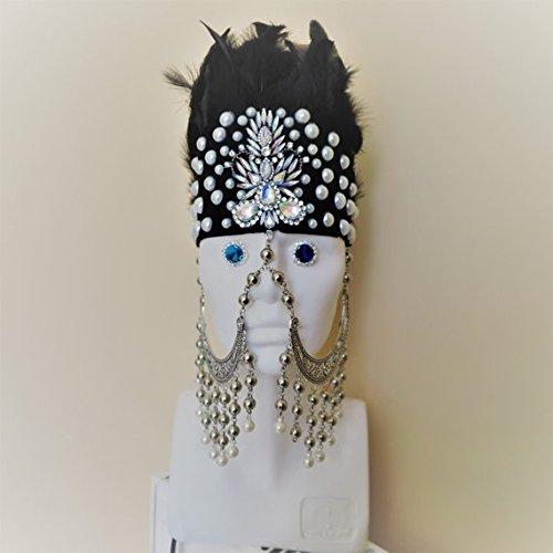 Burning man headpiece Festival headdress Parade crown hat Rave crown Burning man Rose Gold headdress Burning man hat Rave headpiece