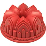 Freshware CB-506RD Cathedral Bundt Cake Silicone Mold