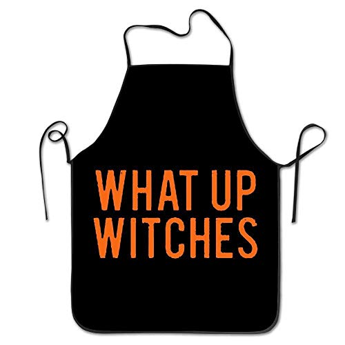 Aprons What Up Witches HALLOWEEN Chef Aprons Kitchen Gift