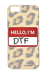Jersey Shore Satire Snooki The Situation Funny Pauly D DTF Jwoww Down To Fuck Hello Im TPU White For Iphone 5c Cover Case