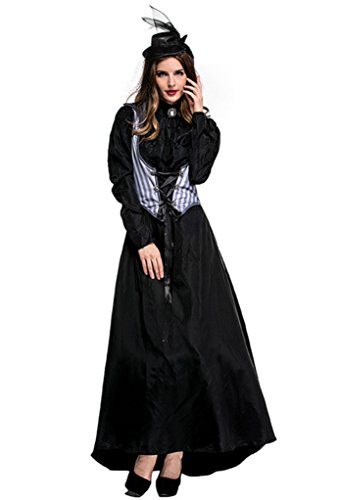 Joygown Women's Black Queen Halloween Party Dressing Up Costume Outfits M