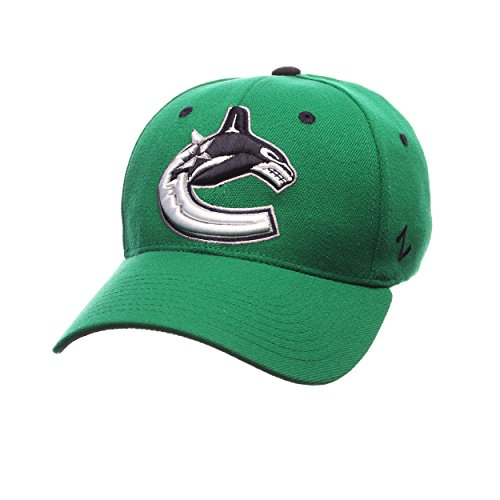 Zephyr NHL Vancouver Canucks Men's Breakaway Cap, Small, Kelly