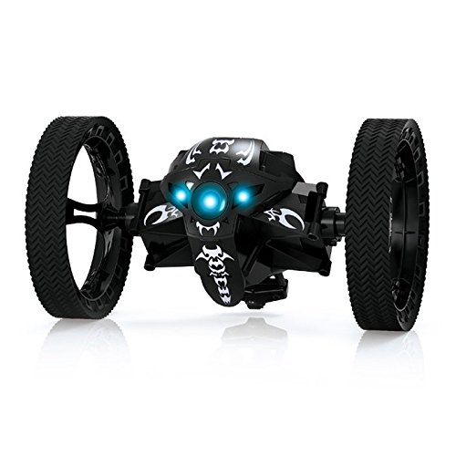 oofay RC Car Bounce Mini Car 2.4Ghz Wireless Remote Control Jumping 360 Degree Rotation W/LED Light RC Toys For Children,Black