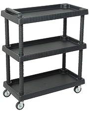 Art Plast D+75373 trolley van polypropyleen, sheel, zwart, 750 x 375 x 920 mm