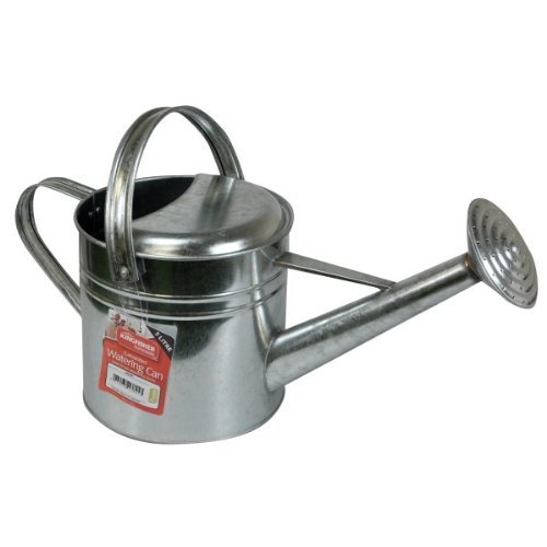Kingfisher GALWC 5 Litre Galvanised Watering Can - Silver King Fisher