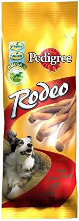 Pedigree Rodeo with Beef (4 per Pack – 70g) – Pack of 6 – Dogs Corner