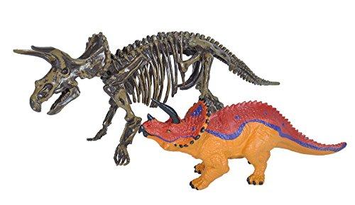 Wild Republic Replica DINO with SKELETON Triceratops, Toy Figures, Dinosaur figurines, Two Piece Set