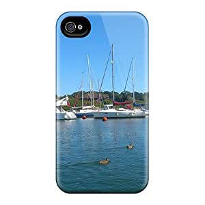 Tpu Shockproof/dirt-proof Lymington River Cover Case For Iphone(4/4s)