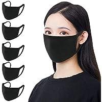 Juego de 5 máscaras de algodón unisex, reutilizables