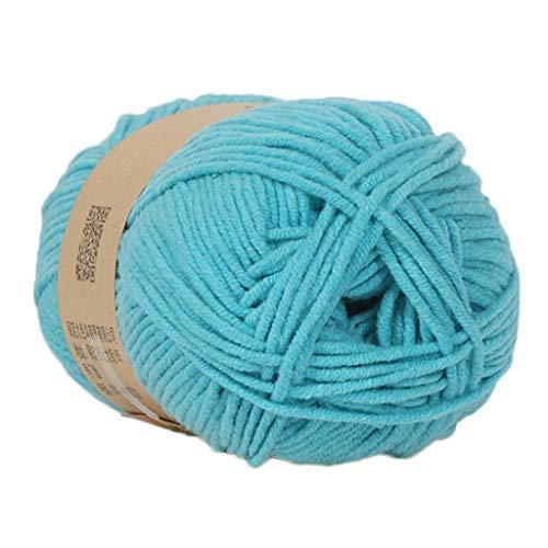 Cotton Chenille Knitting Yarn - Clearance Sale ! Milk Cotton Wool,Vanvler 1PC 50g Chunky Colorful Hand Knitting Baby Crochet Knitwear Yarn (I2)