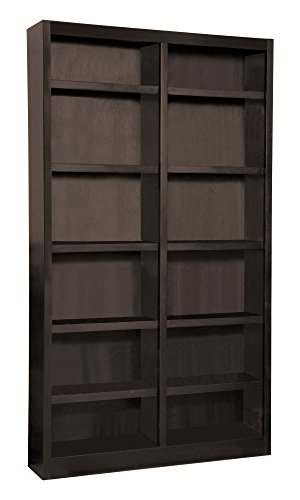 Double Wooden Bookcase (Wooden Bookshelves Double Wide 84