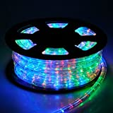 Christmas Xmas New Year Lighting LED Rope Light 50ft Multi-Color w/ Connector