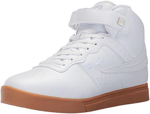 Fila Men's Vulc 13 Mid Plus 2 Walking Shoe, White/Silver/Gum, 11.5 D US