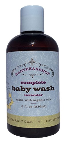 BabyBearShop Organic Complete Baby Wash, Lavender, 8 Ounce (Luxury Soap Valley)