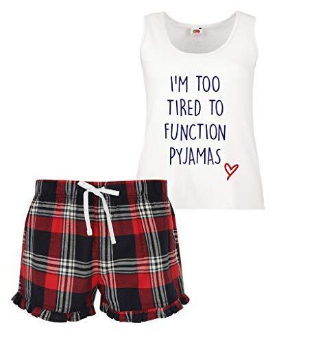 Rouge 60 Fonctions Limited Second Écossais Makeover Vert Pyjama Too To Court I'm Femmes Bleu Volants Tired À Ensemble gxFAwgq