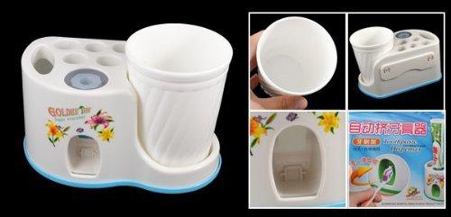 Amazon.com: Cepillo de dientes montados en la pared de plástico caso Titular de Pasta de dientes w Copa: Home & Kitchen