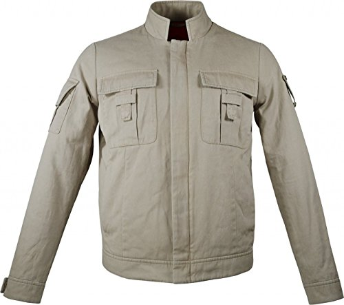 Mens Skywalker Cotton Jacket | Mens Cotton Jackets For Summer | Beige Luke Skywalker Jacket, 2XL by Decrum