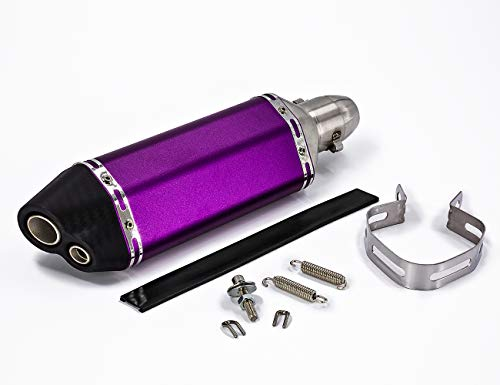 (Soosee Universal Purple Motorcycle Scooters Dual Holes 1.5-2