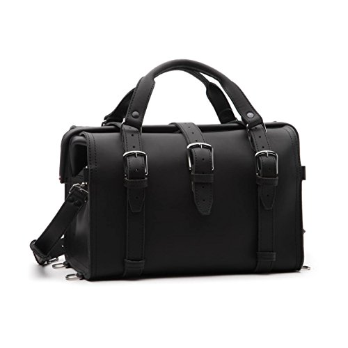 Saddleback Leather Co. Professional Doctor's Full Grain Leather Expandable Briefcase Bag for Men Includes 100 Year ()