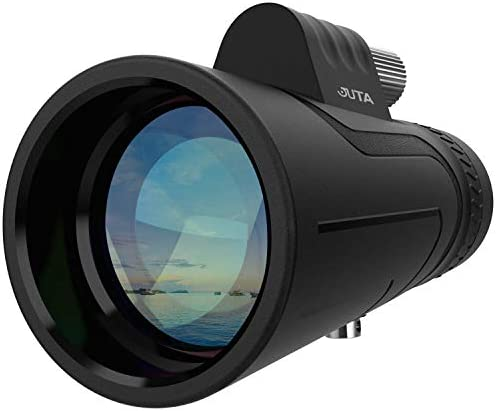 JUTA 12X50 Monocular Telescope Multi Coated Optical Glass Lens Roof Prism Grip Scope for Bird Watching Hunting Camping Travelling Wildlife Scenery