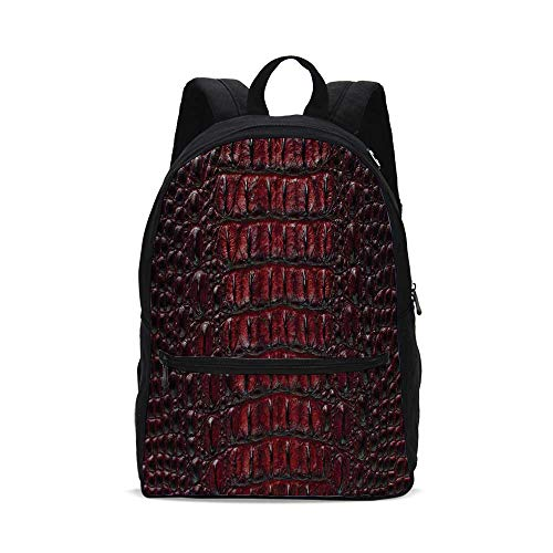 Animal Print Decor Fashion Canvas printed Backpack,Freshwater Crocodile