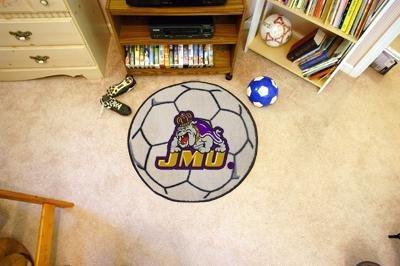 Fan Mats 964 JMU - James Madison University Dukes 29'' Diameter Soccer Ball Shaped Area Rug by Fanmats