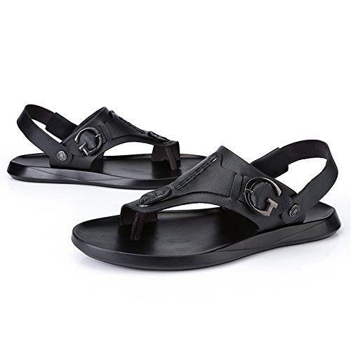 e tallone shoes 43 con uomo Nero Dimensione EU Nero Scarpe da cinturino Color Sandali Jiuyue XIx7aa