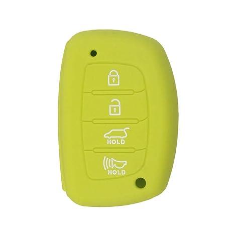 Mokie Silicone Key Fob Case,Skin Cover Protector for Hyundai Elantra Sonata Tucson I40 IX35 I45 Smart 4 Buttons Hyundai Elantra Sonata Tucson I40 IX35 I45 Smart 5 Buttons