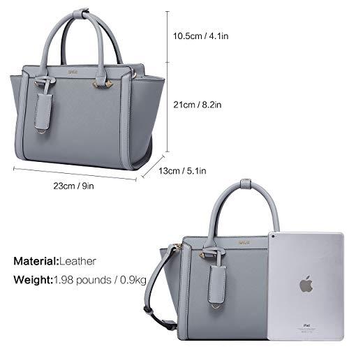 Top Boyatu Body Cross À Bag Petit Gris Handle En Mode Main Dames Cuir Sac tout Fourre Messenger Pour rx0wrnqfA