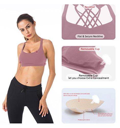 Supporto Reggiseno Begonia Ke Queenie Sportivo Donna Rosa Per Yoga Da Leggero p0Sxgq5gOw