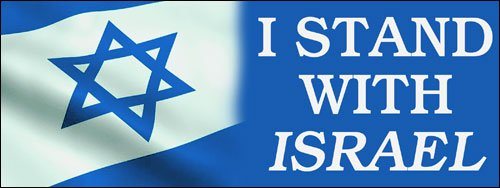 American Vinyl I Stand With Israel BUMPER STICKER (us support israeli flag jewish) -