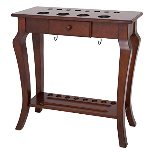 Hathaway Deluxe Floor Cue Rack, Walnut Finish
