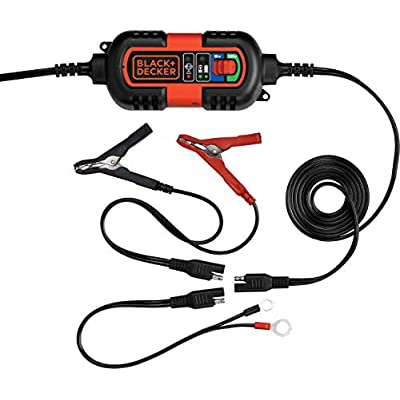 BLACK+DECKER BM3B Fully Automatic 6V/12V Battery Charger/Maintainer with Cable Clamps and O-Ring Terminals: Automotive