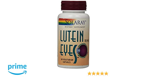 Amazon.com: Solaray Lutein Eyes Supplement, 18 mg, 60 Count: Health & Personal Care