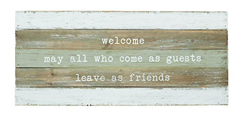 Mud Pie Welcome Planked Wood Plaque