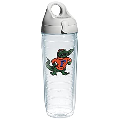 Tervis 1073545 Florida University Albert Emblem Individual Water Bottle with Gray lid, 24 oz, Clear