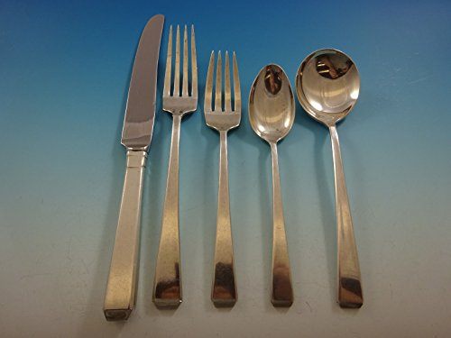 - Craftsman by Towle Sterling Silver Flatware Set for 12 Service 61 pieces